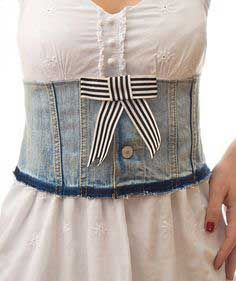 Fashion DIY Tutorial: Handmade Denim Corset Belt