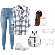 Anather school day by fashionlover4562 on Polyvore featuring mode, Converse, Kenneth Cole Reaction, Cartier, Forever 21 and ASOS