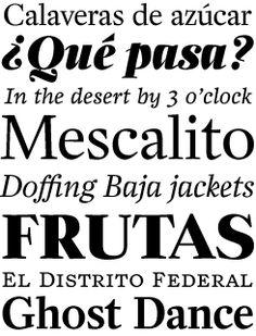 Zócalo font sample