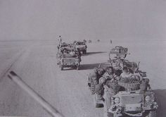 D Squadron 22 SAS mobile convoy during OP Granby.