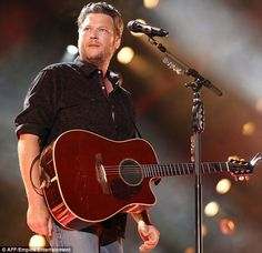 Blake Shelton Seen him at Bluesfest, 2014.