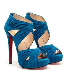 Browns fashion & designer clothes & clothing | CHRISTIAN LOUBOUTIN | 'Bandra' criss-cross suede platforms
