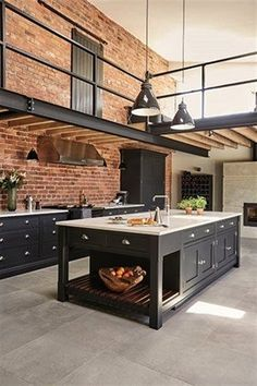 Industrial Style Shaker Kitchen Keep coming back to this look. Industrial Style Shaker Kitchen Keep coming back to this look. House Design, Home, Kitchen Remodel, Industrial Kitchen Design, House Interior, Loft Kitchen, Kitchen Styling, Modern Kitchen Design, Kitchen Design