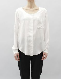 MM6  Silk Button Down Blouse