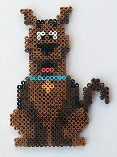 Handmade-Perler-Bead-Scooby-Doo-Fridge-Magnet-or-Wall-Art