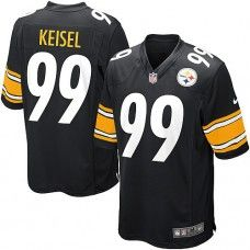 Nike Mens Pittsburgh Steelers Brett Keisel Jersey 99 Game Team Color Black  Color Black bf8ff6ce1