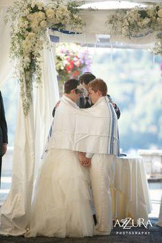 Newcastle WA: Sara & Melanie #jewish wedding #lesbian couple