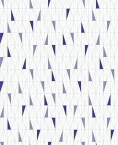 Scandinavian Designers (2756) - Boråstapeter Wallpapers - A stunning all over geometric design of symmetrical triangles. Shown here in shades of blue on a white background - more colours are available. Please request a sample for true colour match. Paste-the-wall product.