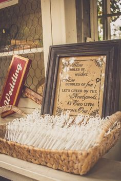 How cute is this bubble wedding exit? Love!