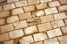tiles cute from wood beams...love this! from b organic