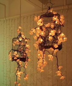 creative light fixture, instead of stringing up lights.