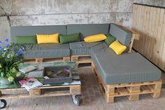 Construire un salon de jardin en bois de palette | pallet furniture ...