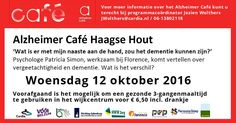 12 Okt - Alzheimer Café - niet-pluisgevoel? - Haagse Hout - Den Haag - http://www.wijkmariahoeve.nl/alzheimer-cafe-niet-pluisgevoel/