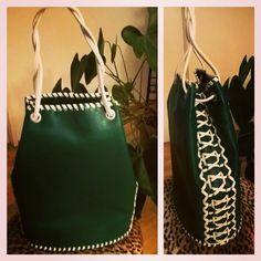 faux leather (vegan) bucketbag - handmade Bucket Bag, Vegan, Creative, Leather, Handmade, Bags, Fashion, Handbags, Moda