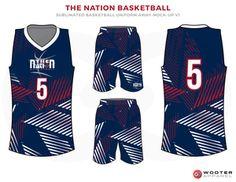 SCHOLARS ACADEMY SEAWOLVER Black White and Blue Basketball Uniforms ... 00364d2d2