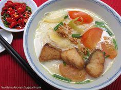 Fish fillet Mee Hoon soup (Rice Vermicelli Noodle Soup): Nasi Lemak Lover