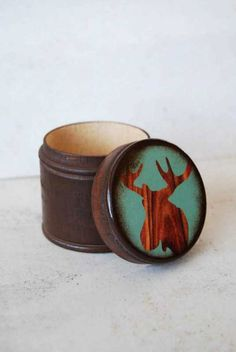 Moose Wood Box by Mmim on Etsy, $11.00