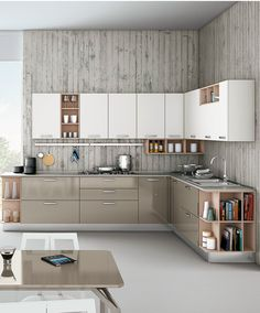 Linear fitted #kitchen with handles ZOE by CREO Kitchens by Lube @creokitchens