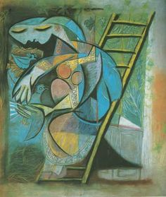 Pablo Picasso, Woman with Pigeons Fine Art Reproduction Oil Painting Pablo Picasso, Art Picasso, Picasso Portraits, Picasso Paintings, Art Paintings, Matisse Art, Henri Matisse, Spanish Painters, Spanish Artists