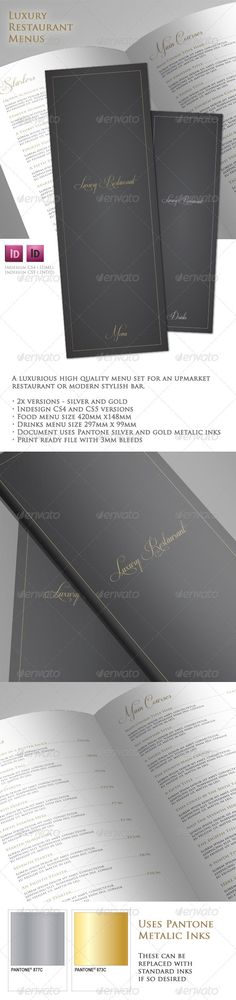 Luxury Restaurant Menu Set  #star #420x148 #michelin • Click here to download ! http://graphicriver.net/item/luxury-restaurant-menu-set/1865411?s_rank=79&ref=pxcr
