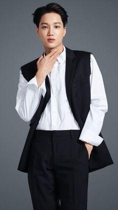 Kim Jongin, Twitter Update, Hello Gorgeous, Bobbi Brown, Ruffle Blouse, Blazer, Jackets, Exo Kai, Baekhyun