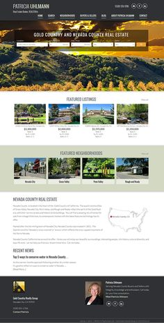 """California - View Pat Ulhmann's new responsive real estate website built from our semi custom website design called """"San Francisco."""" View at http://www.goldcountryrealtygroup.com. Learn about our real estate Wordpress themes at www.IDXCentral.com"""
