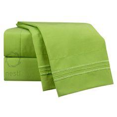 Nestl Bedding 1800 Thread Count Parakeet Bed Sheet Set Size: California King