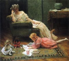 The Athenaeum - Dolly's Portrait (Charles Courtney Curran - )