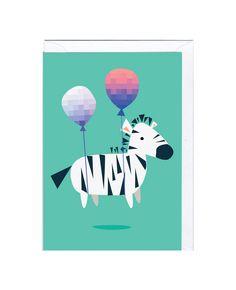 Cute Zebra Greeting card | Jolly Awesome | www.jollyfish.be