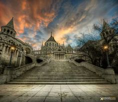 Castle in the sunset by Krénn Imre on Budapest Budapest, Sweet Home, Castle, Louvre, Sunset, Mansions, Architecture, House Styles, City