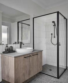 Barcelona 32 - Armstrong Estate / Projects / Polytec Bathroom Tapware, Boutique Homes, Display Homes, Bathroom Inspo, Modern Bathroom Design, Location, Modern Contemporary, Barcelona, Projects