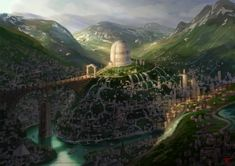 Giant tower library concept -color sketch by chvacher on deviantART