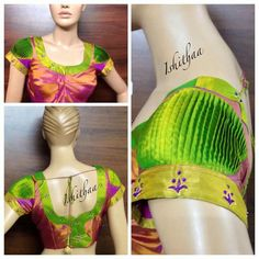 Different Types of Blouse Sleeves Designs - Kurti Blouse Patch Work Blouse Designs, Blouse Back Neck Designs, Fancy Blouse Designs, Blouse Neck Models, Pattu Saree Blouse Designs, Stylish Blouse Design, Designer Blouse Patterns, Hand Designs, Sleeve Designs