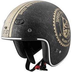 Black, Gold Speed & Strength Ss600 Speed Shop Open Face Helmet 2013 Black Gold