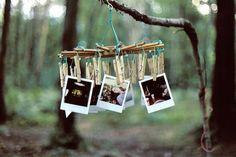Instead of a guest book have polaroid photos taken at entrance :O Diy Photo, Photo Art, Photo Ideas, Polaroid Pictures, Hanging Photos, Hanging Polaroids, Photo Hanging, Beautiful Mess, Beautiful Things