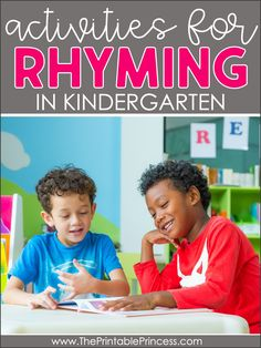 Working on rhyming? These hands-on, engaging rhyming activities for kindergarten will help your students build key phonemic awareness skills as they lay a strong reading foundation. From small group rhyming activities to rhyming centers and rhyming games - this blog post has you covered! #rhymingactivities #kindergartenteacher #kindergartenclassroom #iteachk