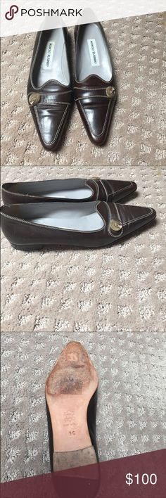Manolo brown loafer Beautiful vguc manolo blahnik leather loafers. Too small for me Manolo Blahnik Shoes Flats & Loafers