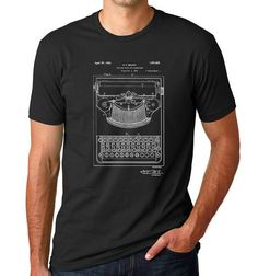 Type Bar for Typewriter Patent Art Print, Blueprint Art, Patent T Shirt PP370