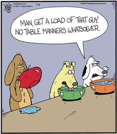 Table manners!