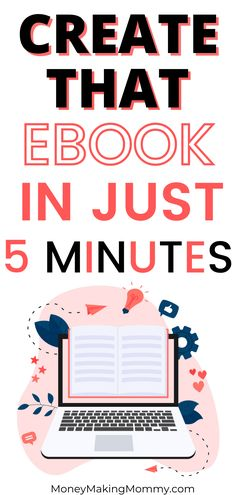 You can finally create that ebook you've been wanting to! And you can do it quicker than you ever imagined! Once you've got it created, you can start selling it over and over again for a passive income. So, find out the quick and easy way to create an ebook and finally cash in! #ebooks #ebookcreation #createanebook Work From Home Companies, Work From Home Jobs, Make Money From Home, Make Money Online, How To Make Money, Successful Business Tips, Part Time Jobs, Be Your Own Boss, Paper Paper