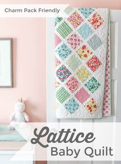 Add another skill - sewing together quilt block on point - with another classic patchwork design. Farmhouse Four-Patch Quilt tutorial by Amy Smart. Free Baby Quilt Patterns, Baby Quilt Tutorials, Quilting Tutorials, Quilting Projects, Sewing Projects, Owl Patterns, Block Patterns, Quilting Patterns, Charm Square Quilt