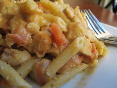 po' man meals chicken pasta with creamy pumpkin sauce #chicken #pumpkin #pasta