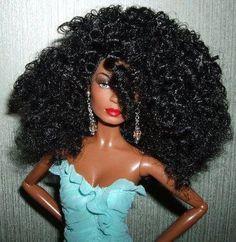 natural hair barbie :-) :-) :-)