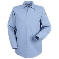 16f41be84bd9 Bulwark FR Concealed-Gripper Pocketless Work Shirt