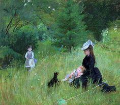 Au parc (1874), Berthe Morisot                                                                                                                                                     More