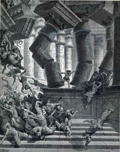 The Inferno, Canto 22 by Gustave Dore. Romanticism. illustration