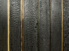 Charred wood - a traditional Japanese method of preserving timber without the use of chemicals.