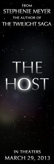 The Host in theaters March 29, 2013- I love this book. I'm crossing my fingers they don't screw this adaptation up!