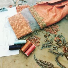 """""""Preps underway#newcollection#coming# #soon#newcollectiin#perfection#resham #zardozi#AW15"""""""