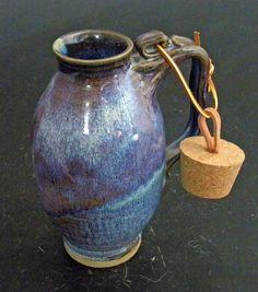 Extra Large Stoneware Travel Mug With Cork by ApplewarePottery
